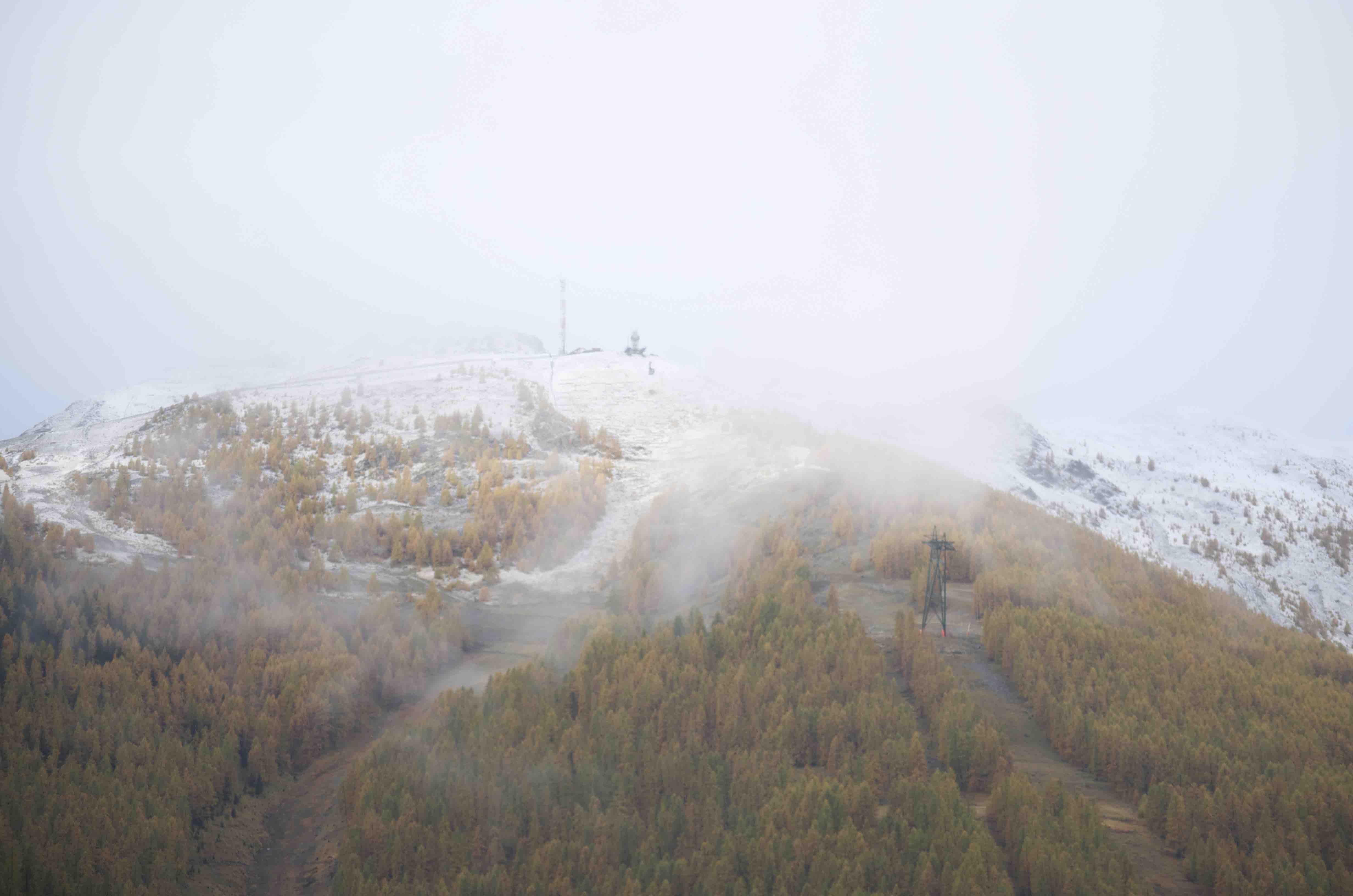 première neige à Auron