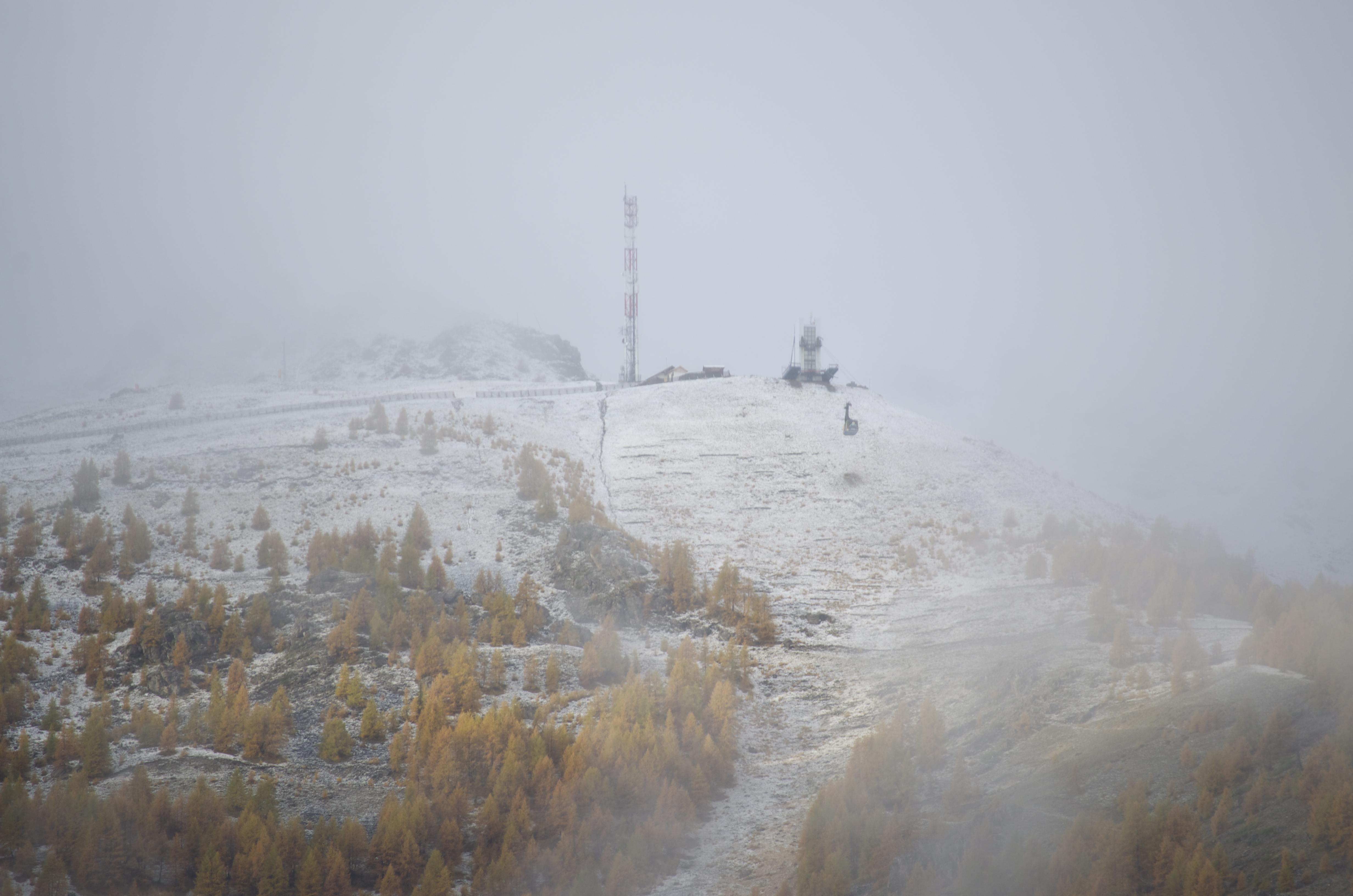 premières neiges à Auron