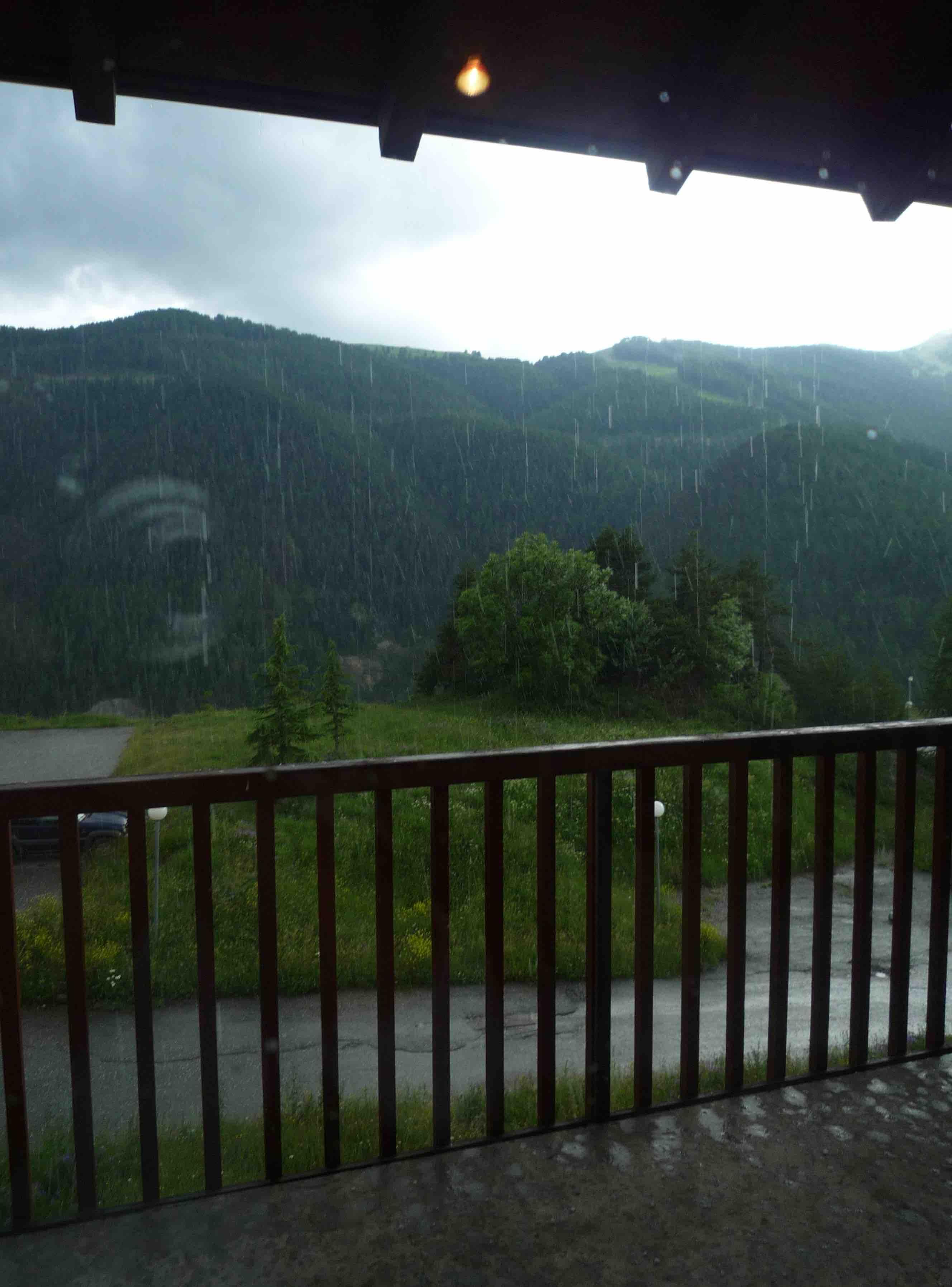 C'est beau Auron sous la pluie!