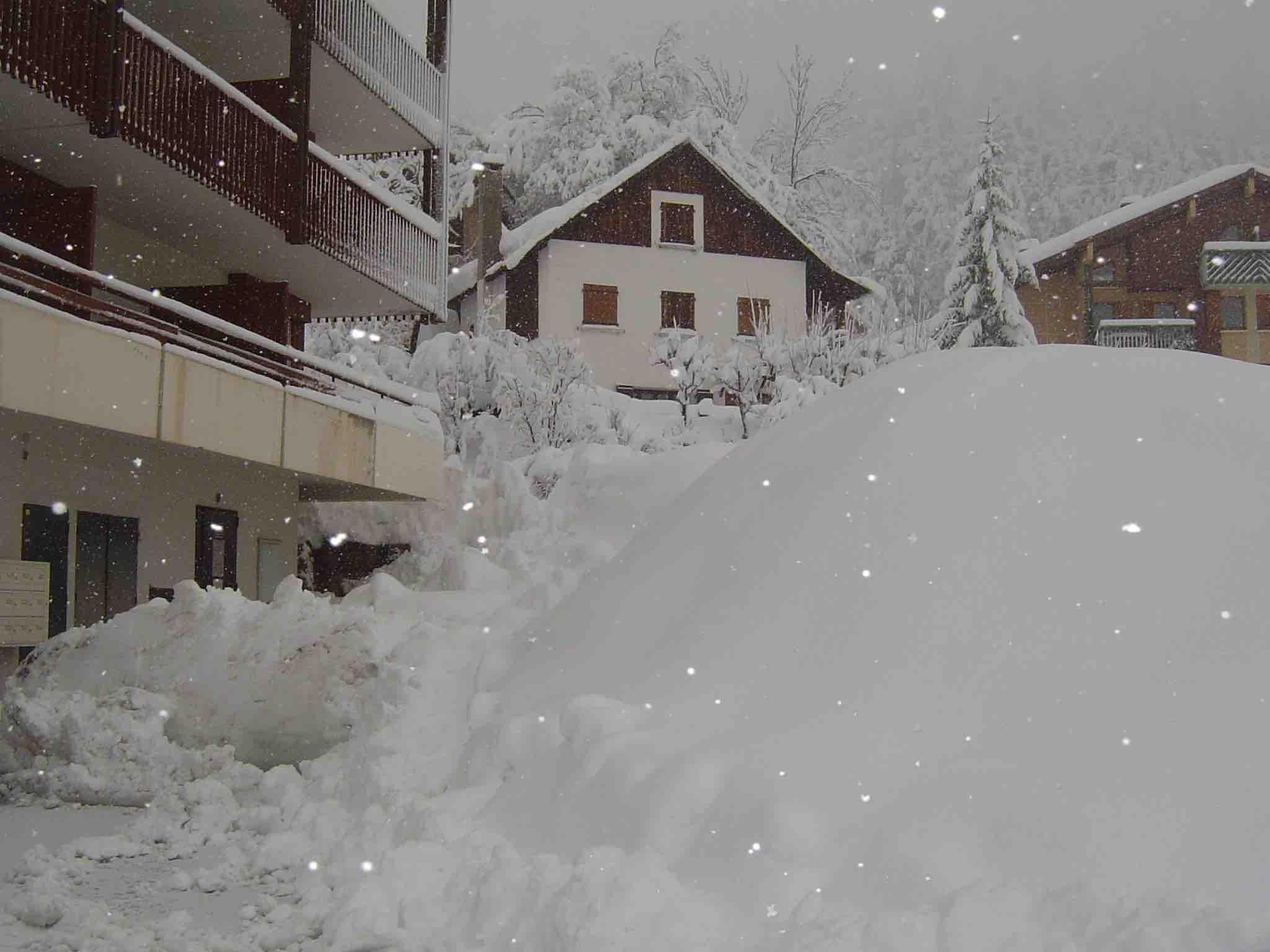 il neige à Auron!