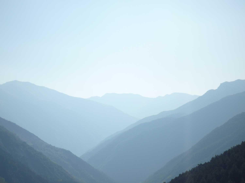 panorama du dernier grand virage d'Auron