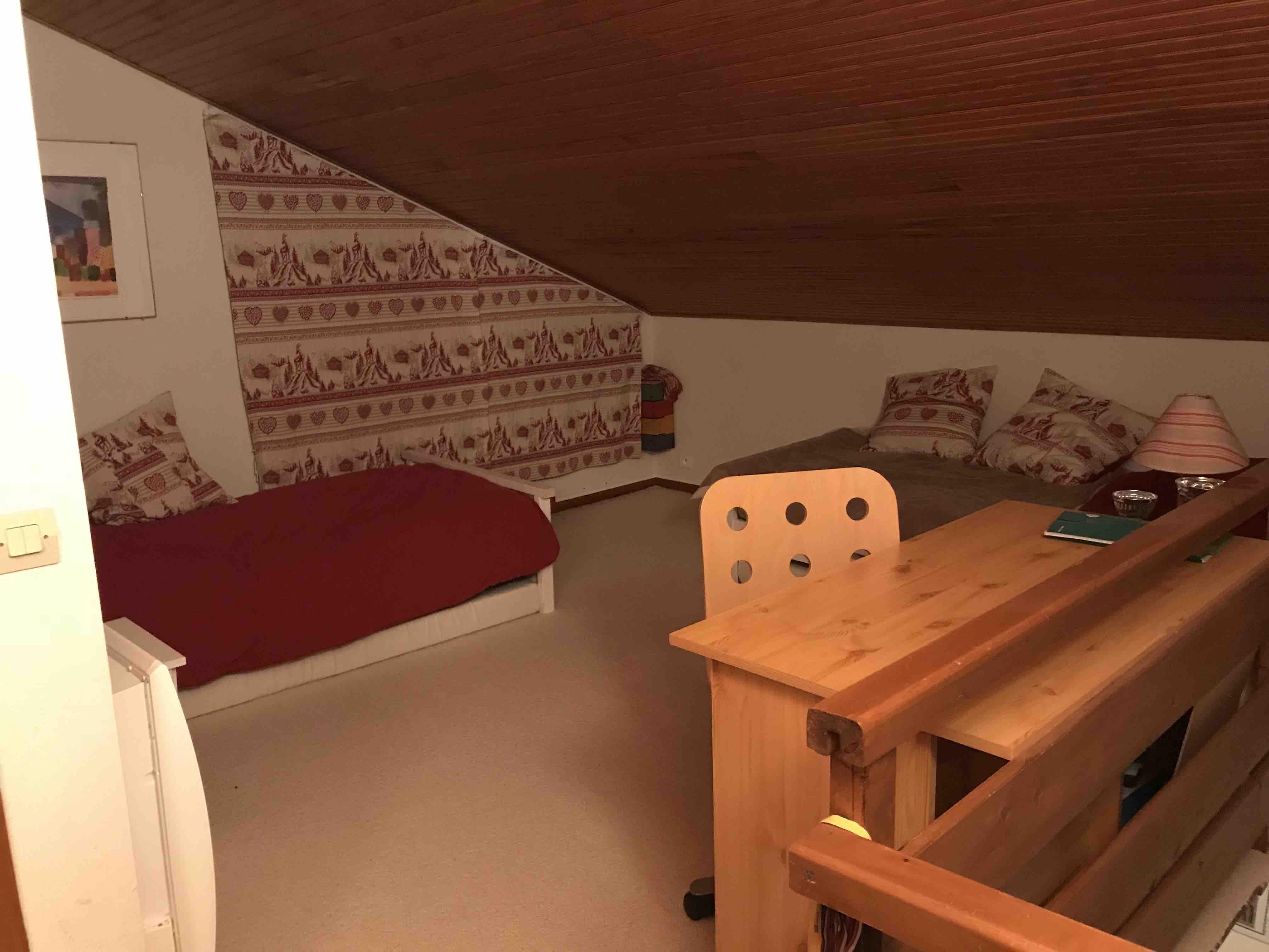 chambre deux lits simples Auron